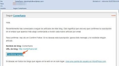 Email confirmacion